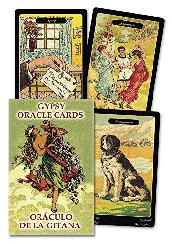 Gypsy Oracle Cards Old Woman: Gypsy Oracle Cards (English And Spanish Edition) By Lo