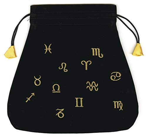 9780738720753: Astrological Black Velvet Tarot Bag