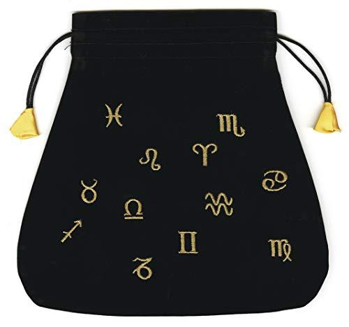 9780738720753: Astrological Black Velvet Tarot Bag