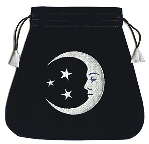 9780738730967: Smiling Moon Embroidered Tarot Bag