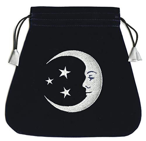 9780738730967: Smiling Moon Embroidered Tarot Bag