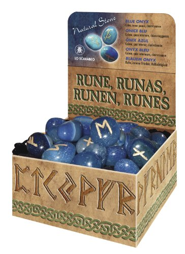 9780738733692: Blue Onyx Natural Stone Runes