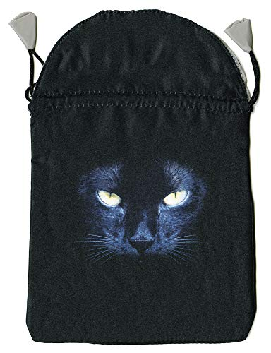 9780738735061: Black Cat Satin Tarot Bag