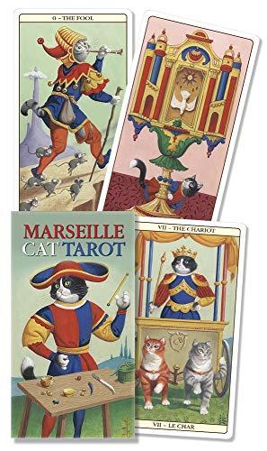 9780738741154: Marseille Cat Tarot