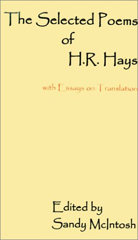 9780738830766: The Selected Poems of H.R. Hays