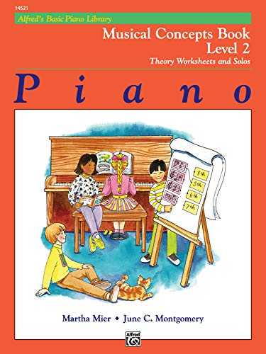 9780739000038: Alfred's Basic Piano Library Musical Concepts, Bk 2: Theory Worksheets and Solos