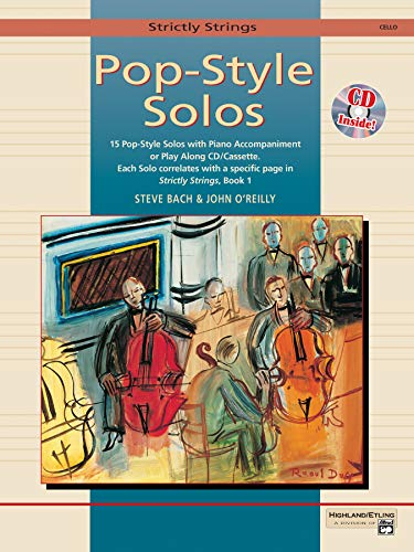 9780739000076: Strictly Strings Pop-Style Solos: Cello, Book & CD