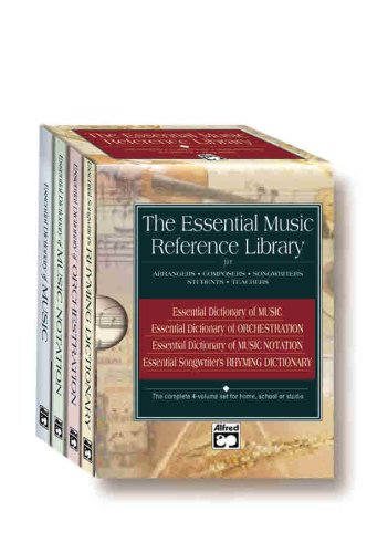 9780739000229: The Essential Music Reference Library for Arrangers, Composers, Songwriters, Students, Teachers: Essential Dictionary of Music, of Orchestration, of Music Notation, Songwriter's Rhyming Dictionary