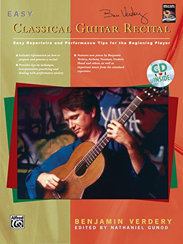 9780739000762: Benjamin Verdery: Easy Classical Guitar Recital Book and CD