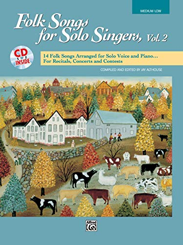 9780739002445: Folk Songs for Solo Singers, Vol 2: 14 Folk Songs Arranged for Solo Voice and Piano for Recitals, Concerts, and Contests (Medium Low Voice), Book & CD