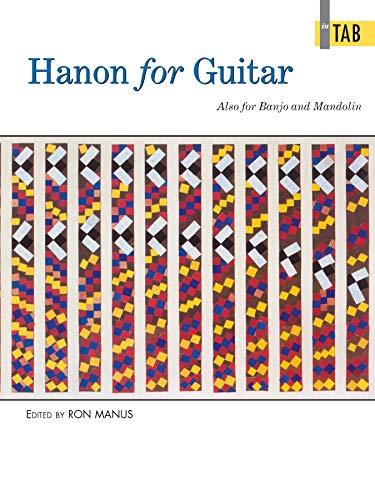 9780739002490: Hanon for Guitar In TAB: Also for Banjo and Mandolin