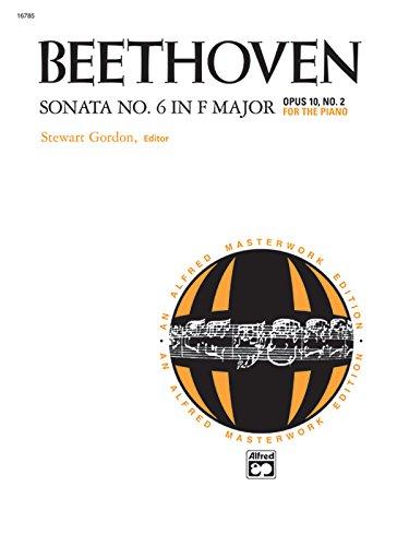 9780739002773: Sonata No. 6 in F Major, Op. 10, No. 2 (Alfred Masterwork Editions)