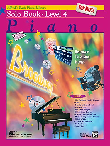 9780739002995: Alfred's Basic Piano Course Top Hits! Solo Book, Bk 4 (Alfred's Basic Piano Library)
