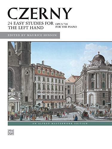 9780739005439: Czerny 24 Easy Studies for the Left Hand, Op. 718: Left Hand Alone (Alfred Masterwork Edition)