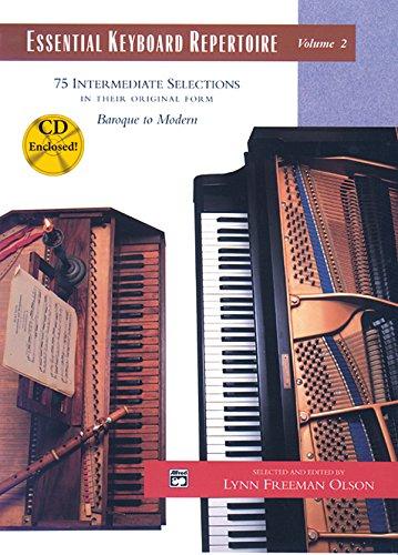 9780739006184: Essential Keyboard Repertoire, Vol 2: 75 Intermediate Selections in Their Original Form - Baroque to Modern, Book & CD