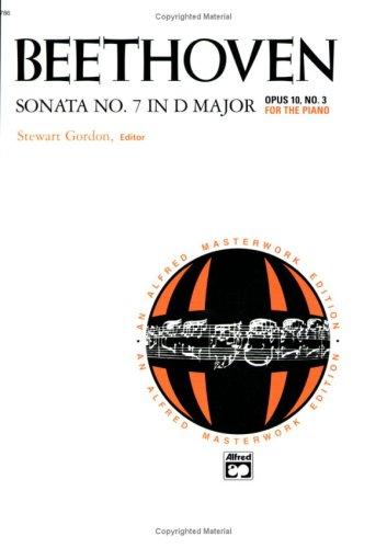 9780739007150: Sonata No. 7 in D Major, Op. 10, No. 3 (Alfred Masterwork Editions)