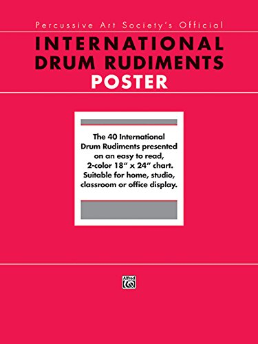 9780739008997: International Drum Rudiments: The 40 International Drum Rudiments Presented on an Easy to Read, 2-color 18