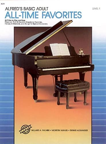 9780739009093: Alfred's Basic Adult Piano Course All-Time Favorites, Bk 1