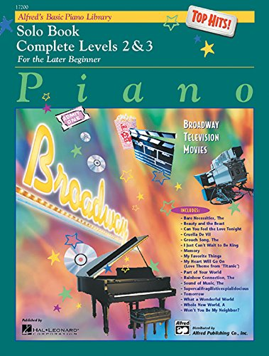 9780739011812: Alfred's Basic Piano Course, Top Hits! Solo Book Complete Levels 2 & 3: Top Hits