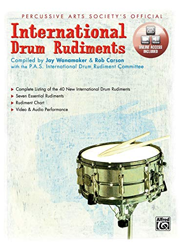 9780739013106: International Drum Rudiments +CD