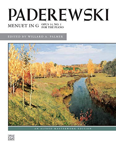 Menuet in G, Op. 14, No. 1: Ignacy J. Paderewski