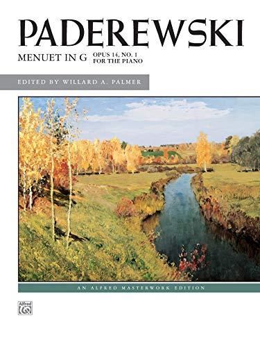 9780739013182: Menuet in G, Op. 14, No. 1: Sheet (Alfred Masterwork Edition)