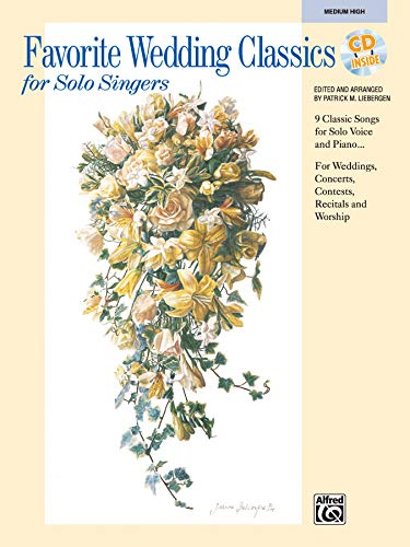 9780739015711: Favorite Wedding Classics for Solo Singers: Medium High Voice, Book & CD