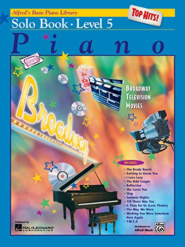 9780739016428: Alfred's Basic Piano Library, Top Hits!: Solo Book, Level 5