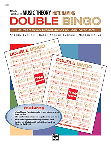 9780739018729: Alfred's Essentials of Music Theory: Note Naming Double Bingo