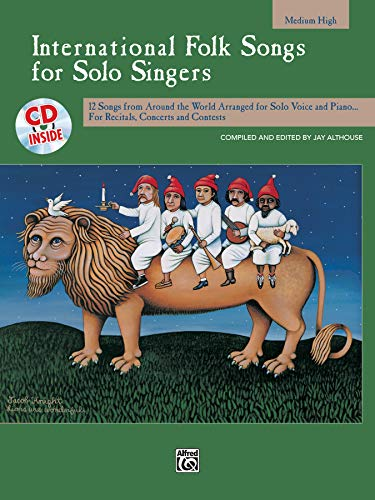 9780739020081: International Folk Songs for Solo Singers: Medium High Voice, Book & CD