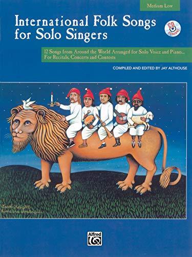9780739020128: International Folk Songs for Solo Singers: Medium Low Voice, Book & CD
