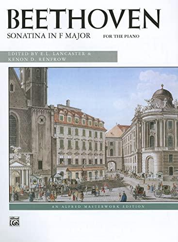 Sonatina in F Major Format: Sheet: By Ludwig van