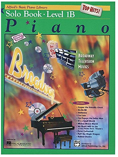 9780739021156: Alfred's Basic Piano Library Top Hits! Solo Book, Bk 1B: Book & CD