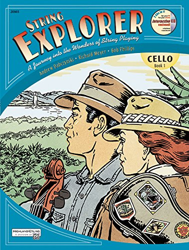 9780739023129: String Explorer, Bk 1: Cello, Book & Interactive CD