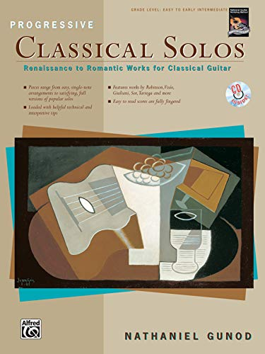 9780739026090: Progressive Classical Solos: Renaissance to Romantic Works for Classical Guitar, Book & CD