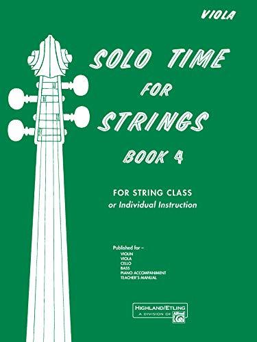 9780739026878: Solo Time for Strings, Bk 4: Viola