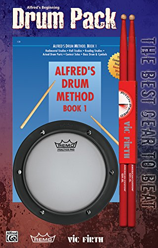 9780739027202: Alfred's Drum Method, Bk 1: The Most Comprehensive Beginning Snare Drum Method Ever! (Beginning Drum Pack -- Book, Pad, & Sticks), Drum Pack (Book, Pad, & Sticks)