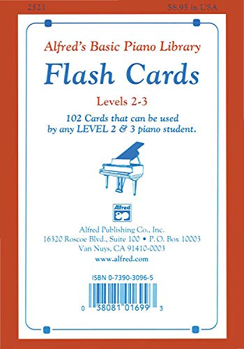 9780739030967: Alfred's Basic Piano Library Flash Cards, Bk 2 & 3: 102 Cards That Can Be Used by Any Level 2 & 3 Piano Student, Flash Cards