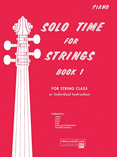 9780739031735: Solo Time for Strings, Bk 1: Piano Acc.