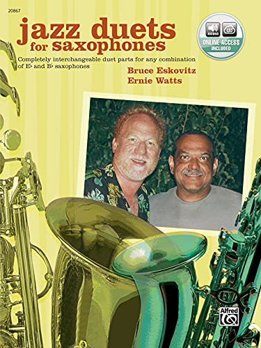 9780739032800: Jazz Duets for Saxophones - Bk & CD --- Saxophones (2) - Eskovitz and watts --- Alfred Publishing