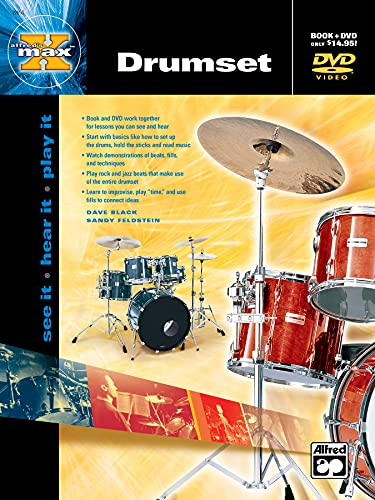 9780739034668: Alfred's MAX Drumset (Book & DVD)