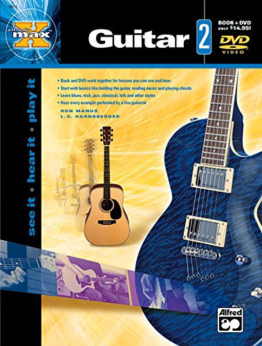9780739034699: Alfred's MAX Guitar, Bk 2: See It * Hear It * Play It, Book & DVD (Alfred's MAX Series)