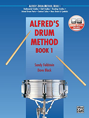 9780739036365: Alfred's Drum Method, Bk 1: The Most Comprehensive Beginning Snare Drum Method Ever!, Book & DVD (Sleeve)