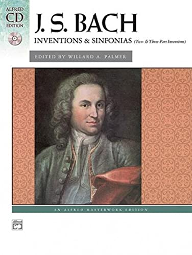 9780739036860: Bach -- Inventions & Sinfonias (2 & 3 Part Inventions): Book & CD (Alfred CD Edition)