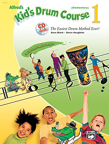 9780739037423: Alfred's Kid's Drum Course, Bk 1: The Easiest Drum Method Ever!, Starter Kit (Sound Shape™ included)