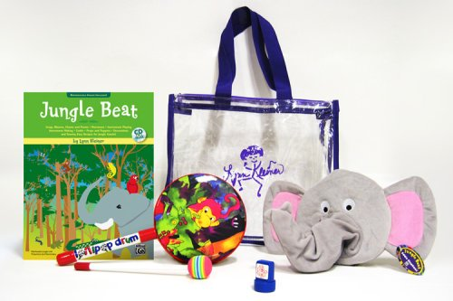 9780739038130: Jungle Beat: Deluxe Kit, Book & CD, Jungle Drum, Elephant Puppet, Hand Stamp & Jungle Tote Bag