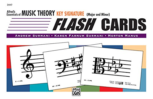 9780739038659: Alfred's Essentials of Music Theory: Key Signature Flash Cards (Major and Minor), Flash Cards