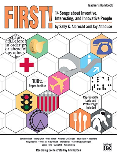 First!: 14 Songs about Inventive, Interesting, and Innovative People, Book CD (Paperback)