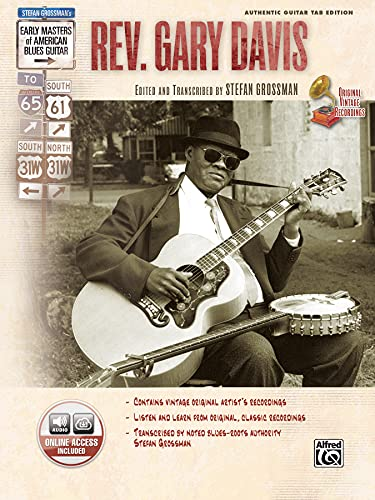 9780739043295: Stefan Grossman's Early Masters of American Blues Guitar: Rev. Gary Davis, Book & CD