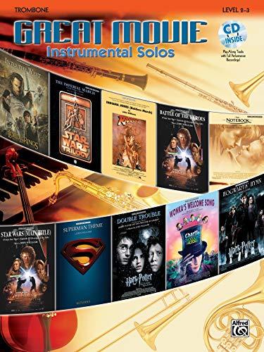 9780739043721: Great Movie Instrumental Solos: Trombone, Book & CD